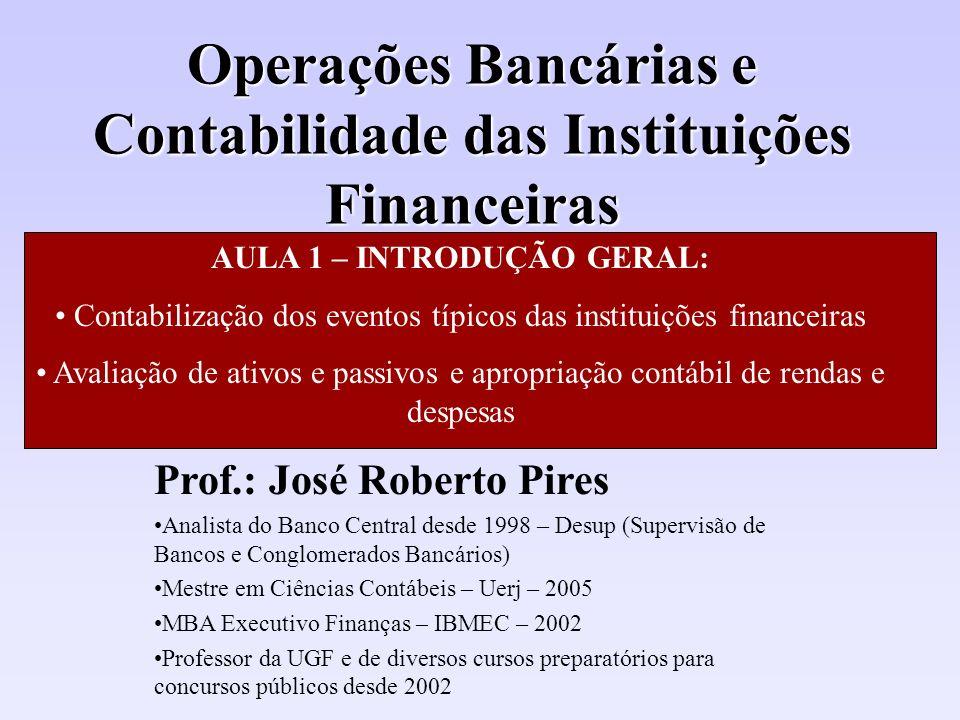 Operações Bancárias e Contabilidade das Instituições Financeiras