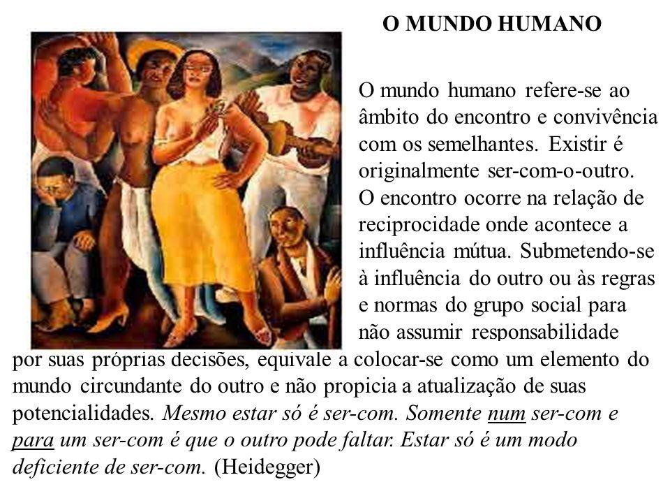O MUNDO HUMANO O mundo humano refere-se ao. âmbito do encontro e convivência. com os semelhantes. Existir é.