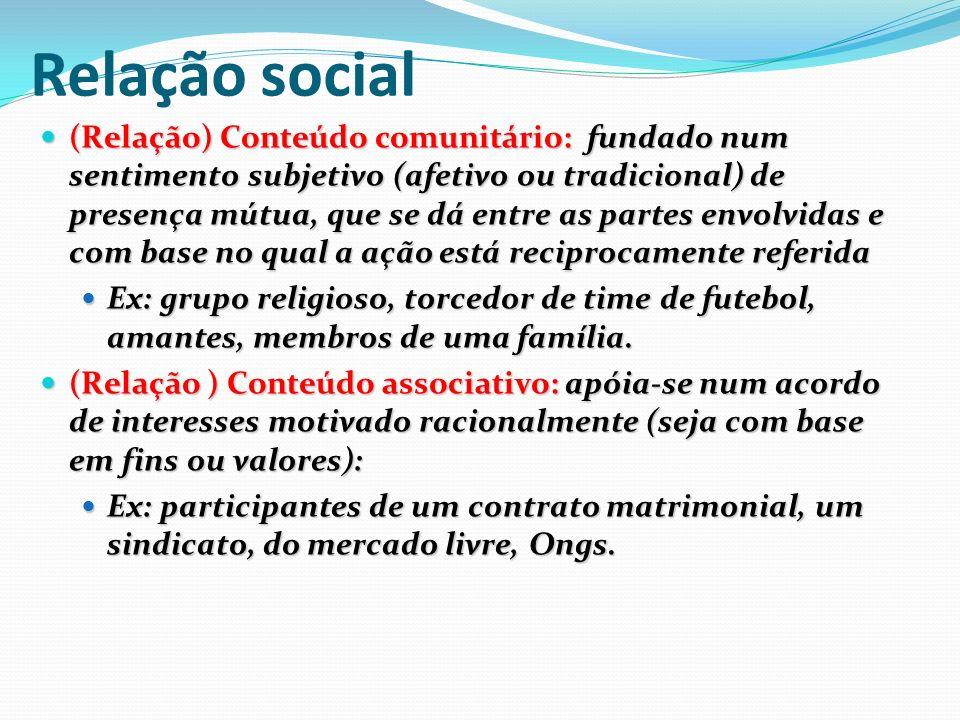 Relação social