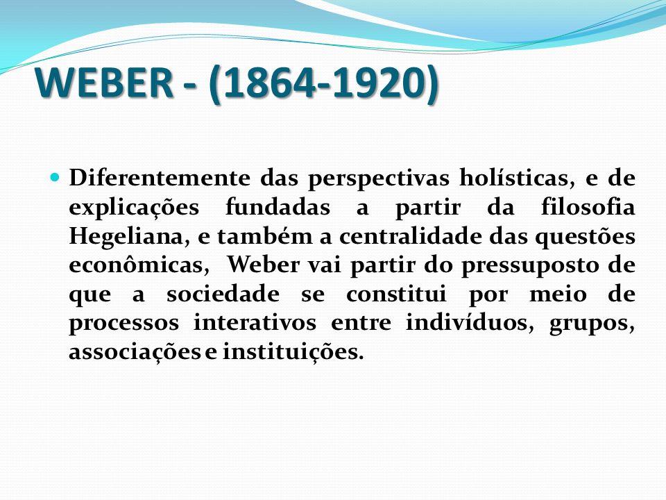 WEBER - (1864-1920)