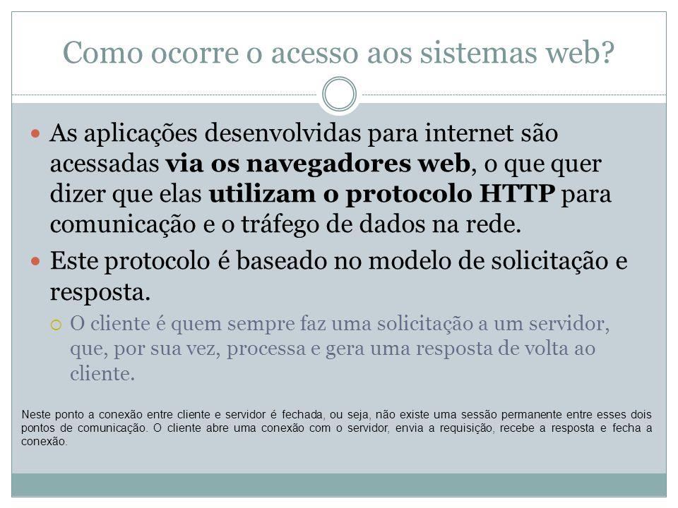 Como ocorre o acesso aos sistemas web