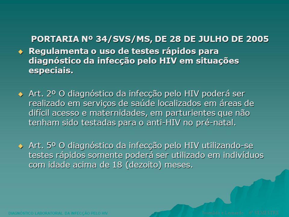 PORTARIA Nº 34/SVS/MS, DE 28 DE JULHO DE 2005