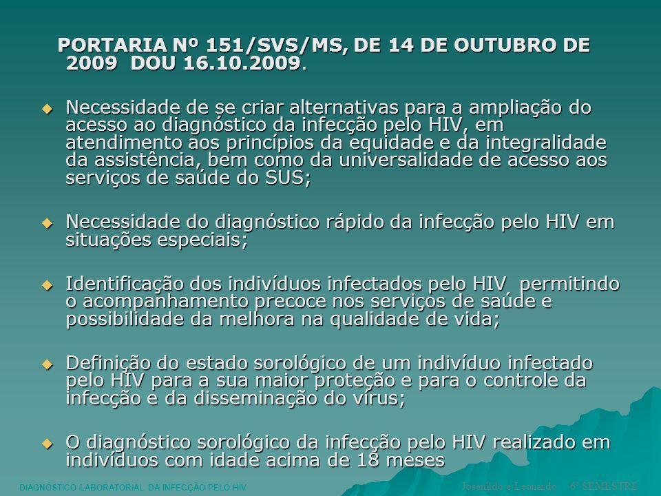 PORTARIA Nº 151/SVS/MS, DE 14 DE OUTUBRO DE 2009 DOU 16.10.2009.