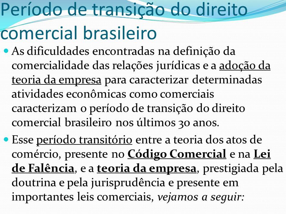 Período de transição do direito comercial brasileiro