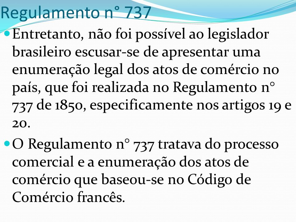 Regulamento n° 737