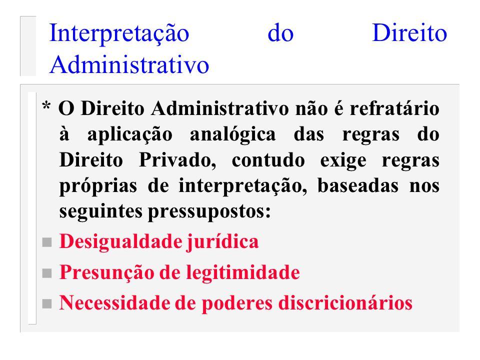 Interpretação do Direito Administrativo