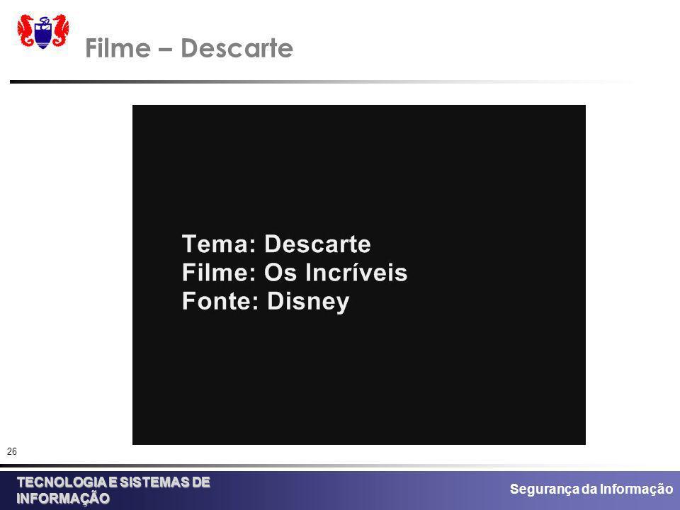Filme – Descarte