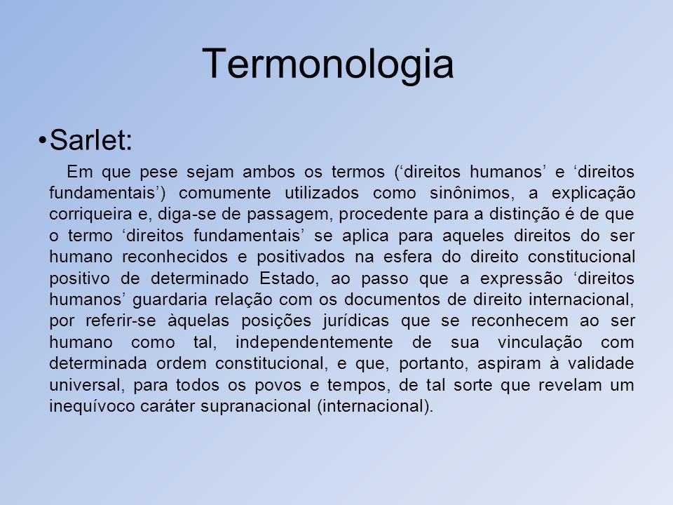 Termonologia Sarlet: