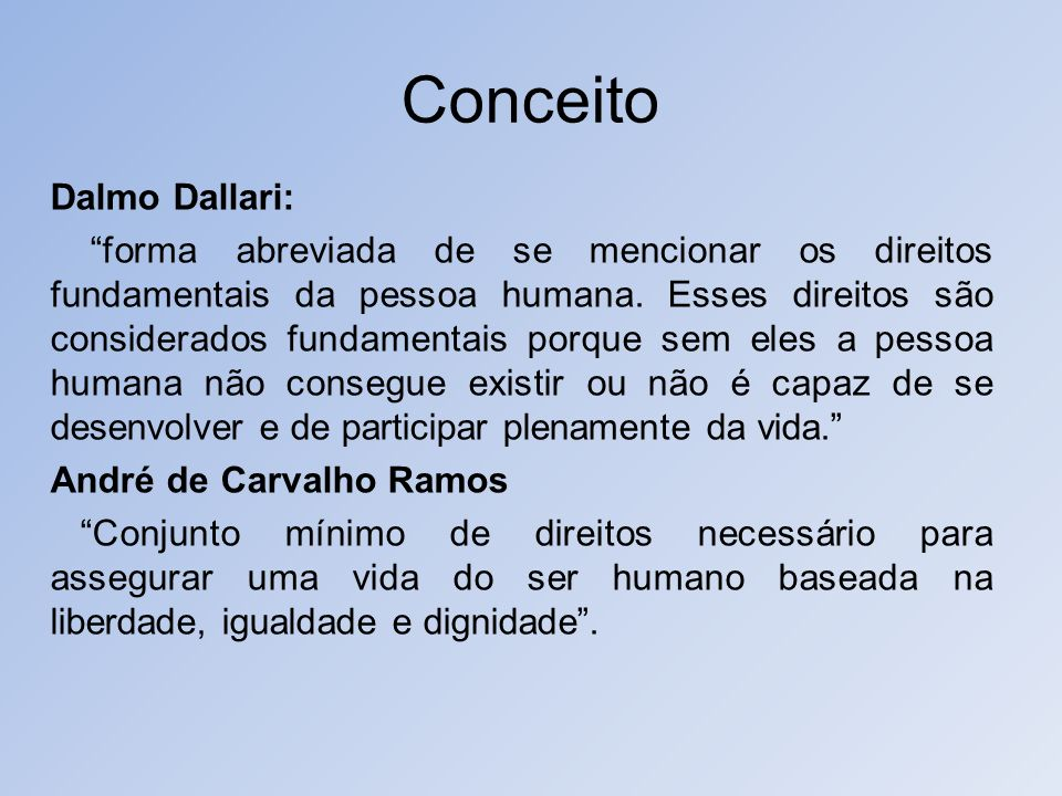 Conceito Dalmo Dallari: