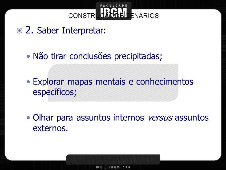 CONSTRUÇÃO DE CENÁRIOS