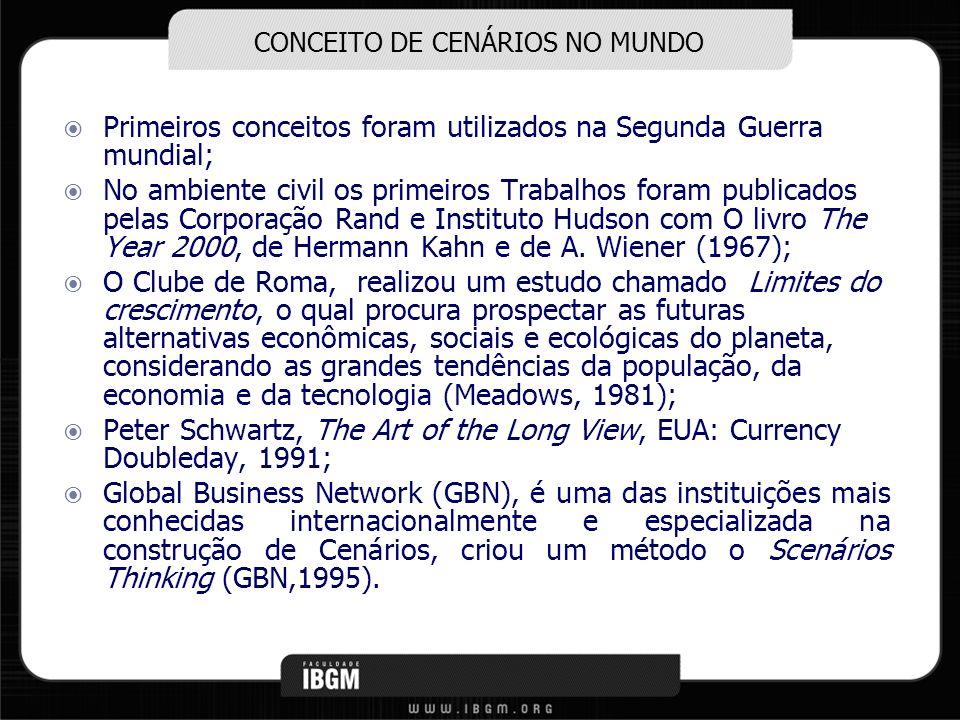 CONCEITO DE CENÁRIOS NO MUNDO