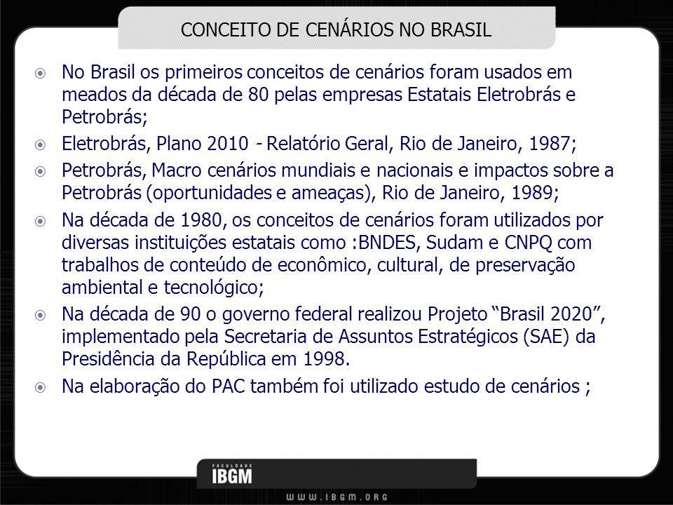 CONCEITO DE CENÁRIOS NO BRASIL