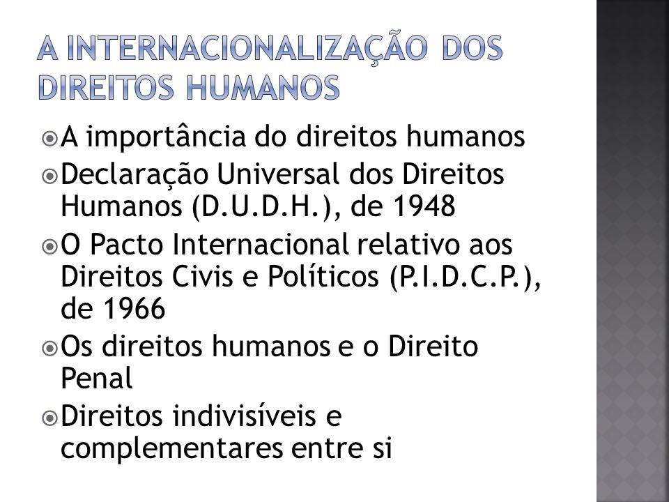 A internacionalização dos direitos humanos