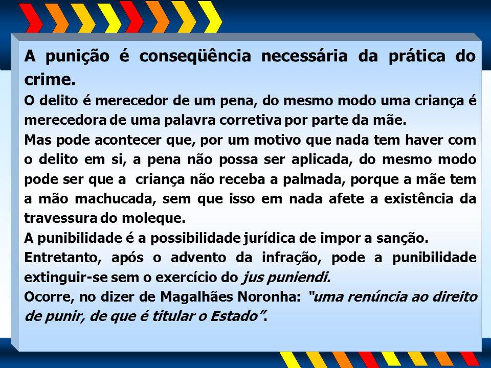 A punição é conseqüência necessária da prática do crime.