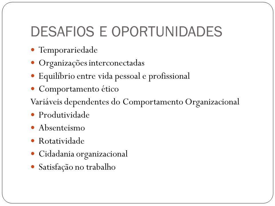 DESAFIOS E OPORTUNIDADES