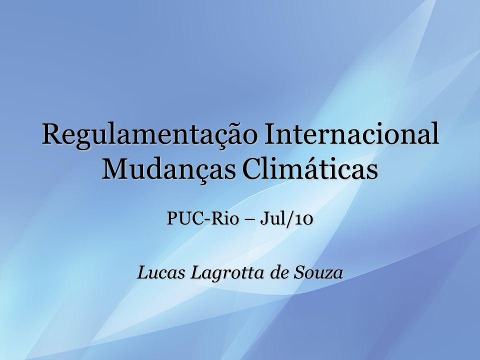 Regulamentação Internacional Mudanças Climáticas