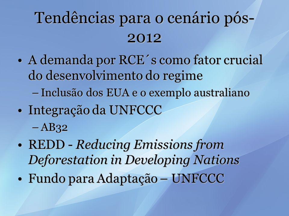 Tendências para o cenário pós-2012