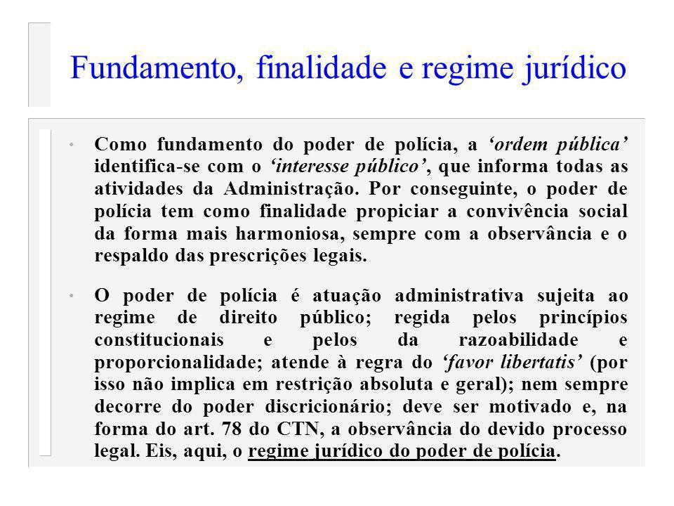 Fundamento, finalidade e regime jurídico