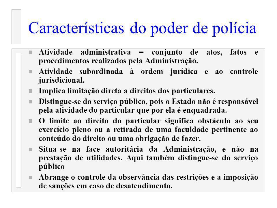 Características do poder de polícia