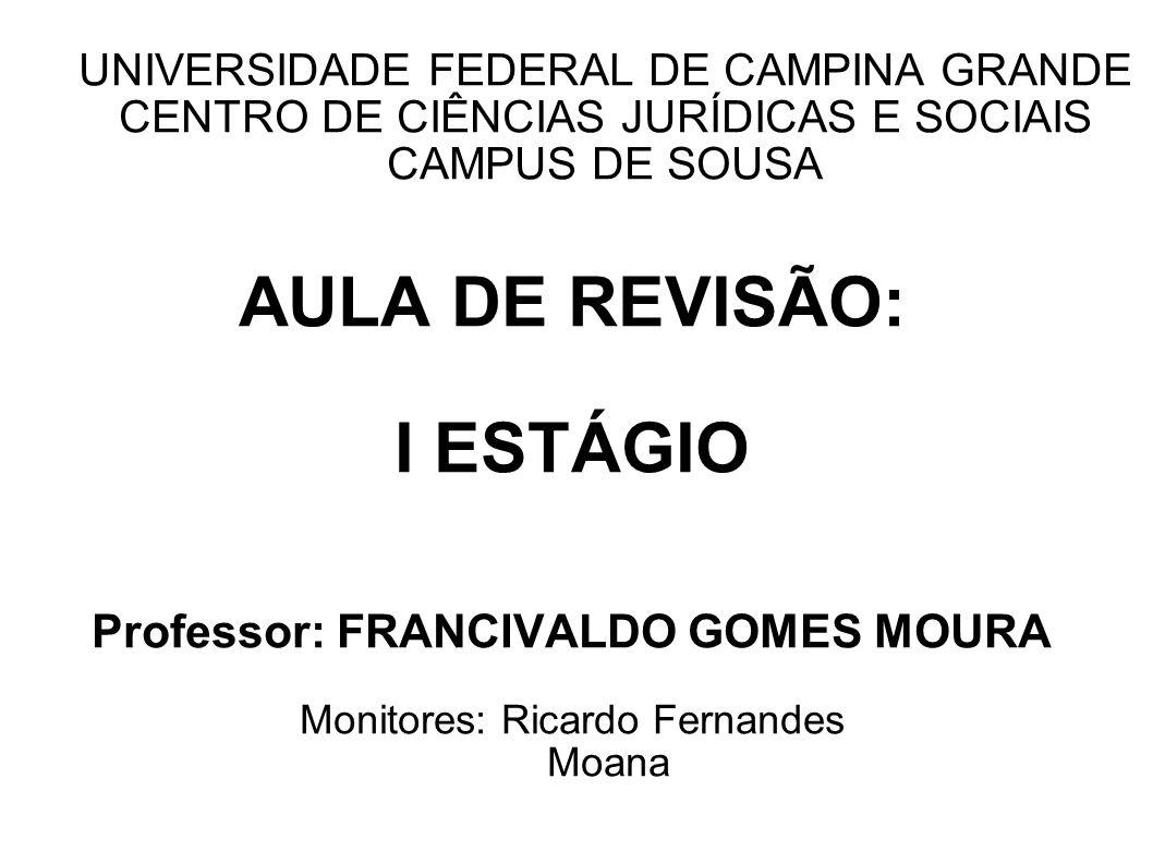 Professor: FRANCIVALDO GOMES MOURA