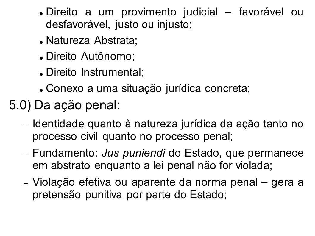 Direito a um provimento judicial – favorável ou desfavorável, justo ou injusto;