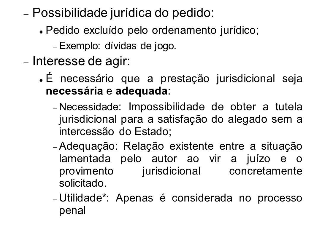 Possibilidade jurídica do pedido: