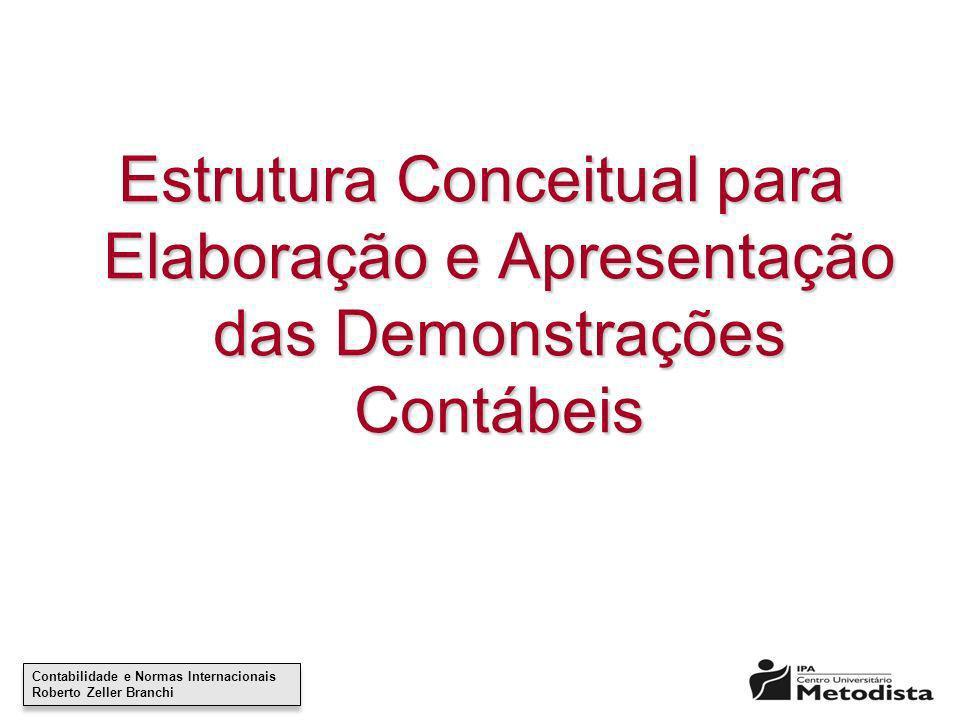 Estrutura Conceitual para Elaboração e Apresentação das Demonstrações Contábeis