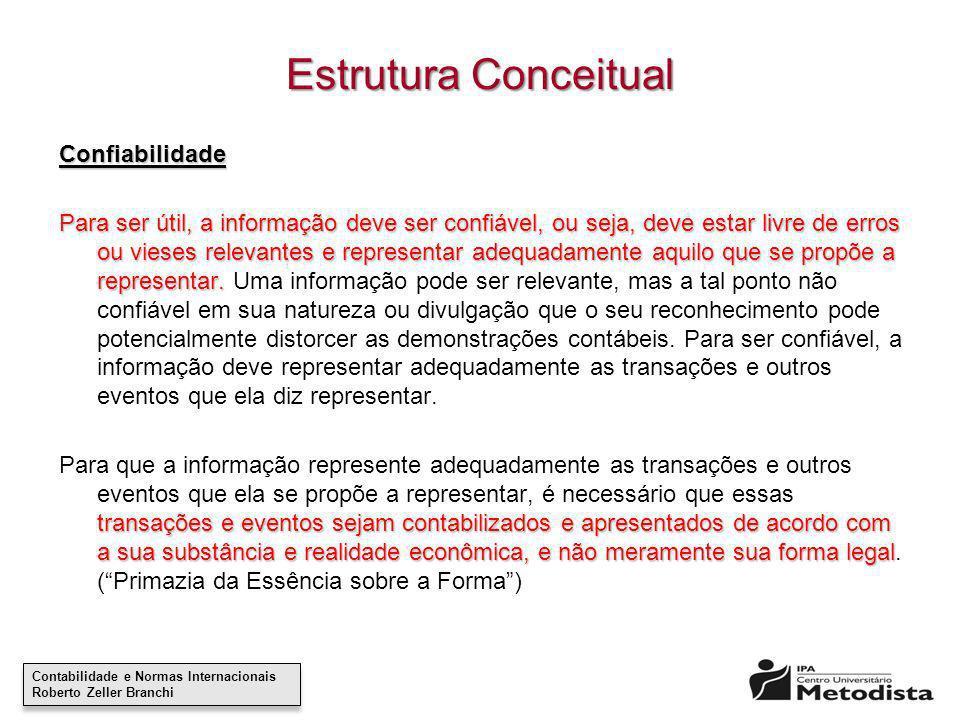 Estrutura Conceitual Confiabilidade