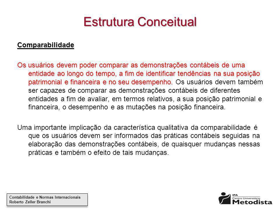 Estrutura Conceitual Comparabilidade