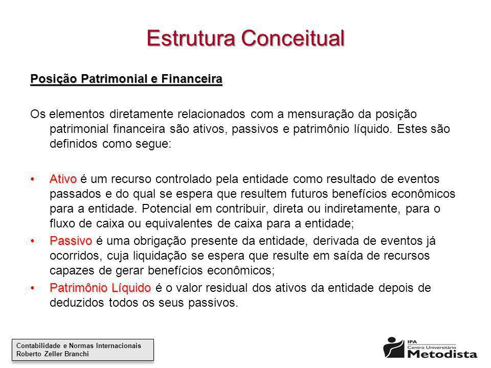 Estrutura Conceitual Posição Patrimonial e Financeira