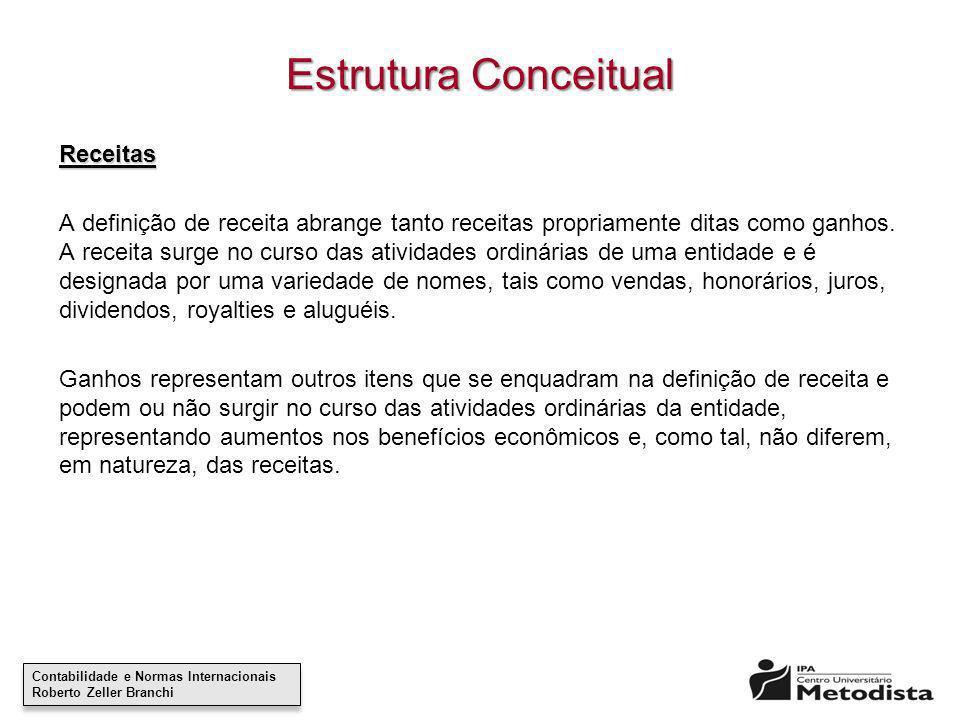 Estrutura Conceitual Receitas