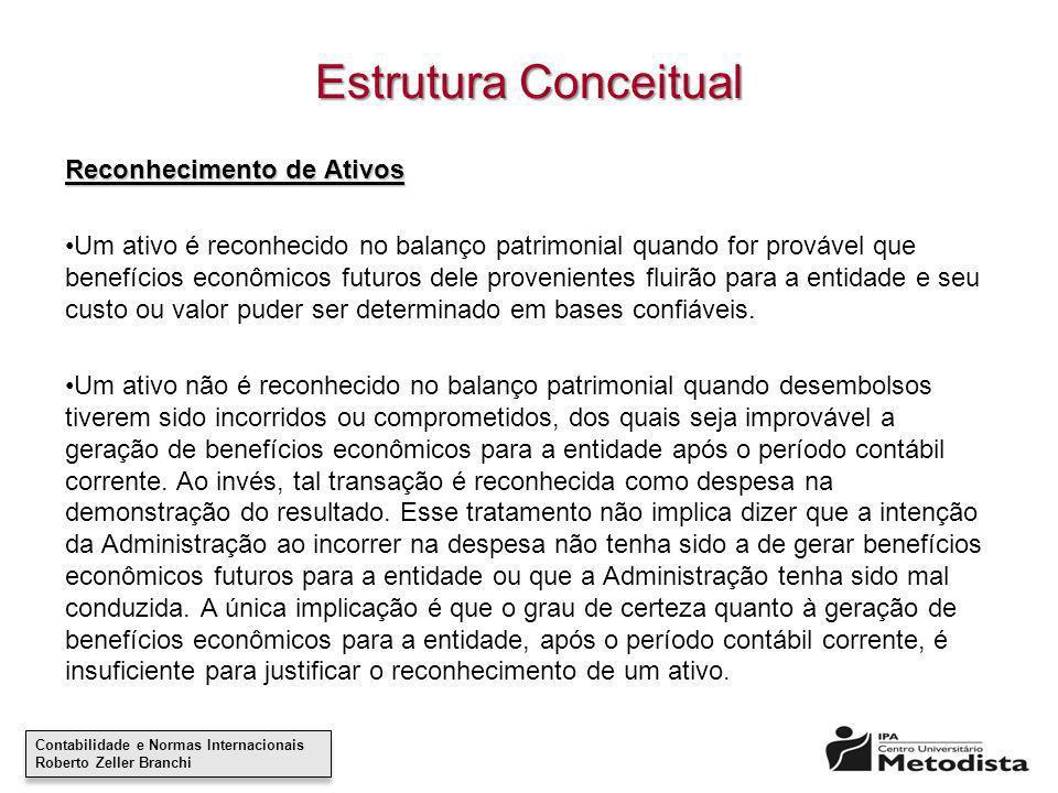 Estrutura Conceitual Reconhecimento de Ativos