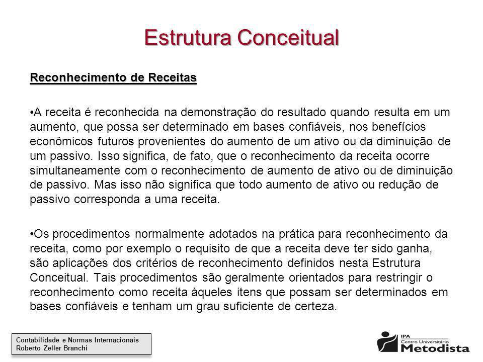 Estrutura Conceitual Reconhecimento de Receitas