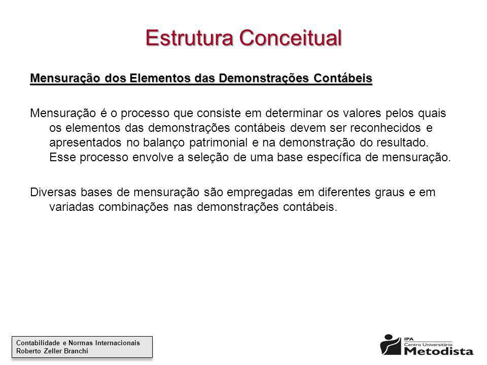 Estrutura Conceitual Mensuração dos Elementos das Demonstrações Contábeis.