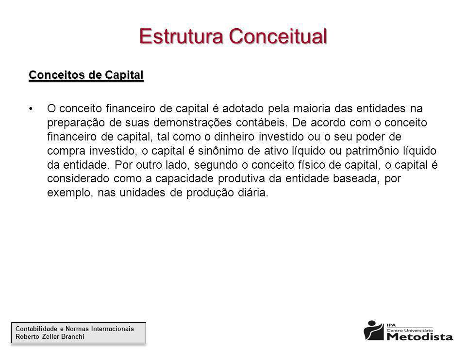 Estrutura Conceitual Conceitos de Capital