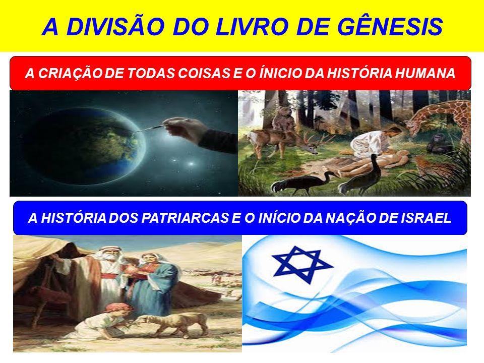 A DIVISÃO DO LIVRO DE GÊNESIS