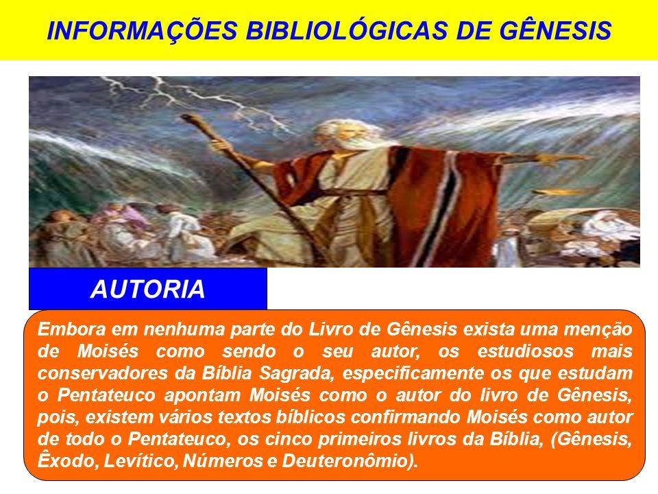 INFORMAÇÕES BIBLIOLÓGICAS DE GÊNESIS