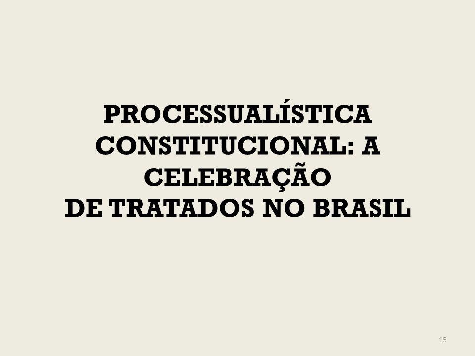 PROCESSUALÍSTICA CONSTITUCIONAL: A CELEBRAÇÃO DE TRATADOS NO BRASIL