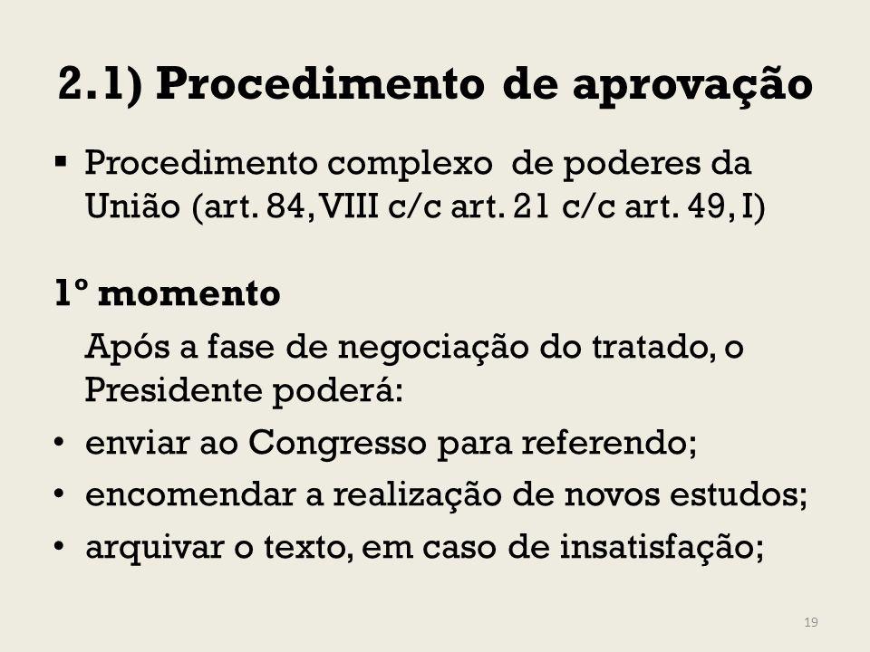 2.1) Procedimento de aprovação