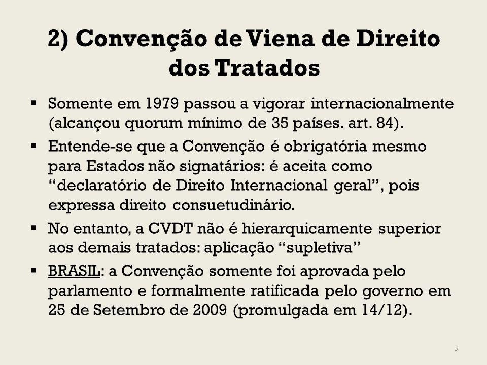 2) Convenção de Viena de Direito dos Tratados