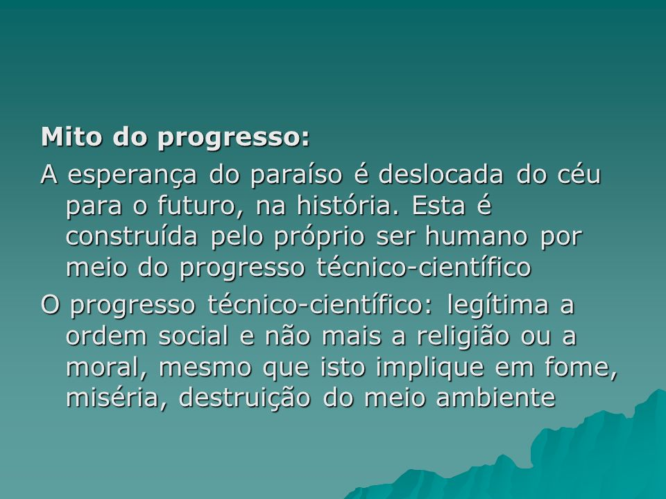 Mito do progresso: