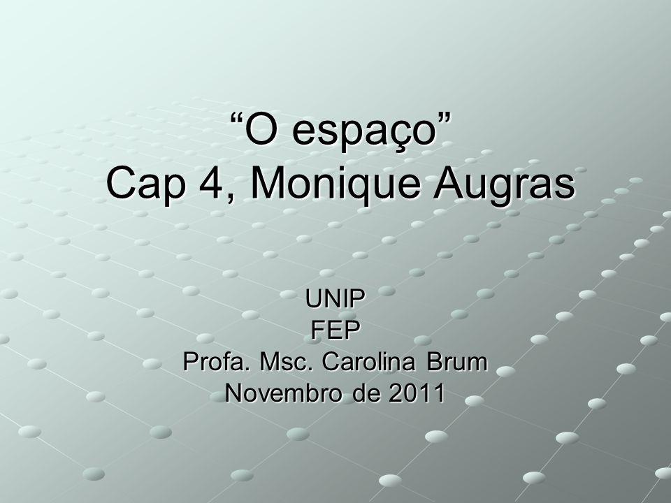 O espaço Cap 4, Monique Augras