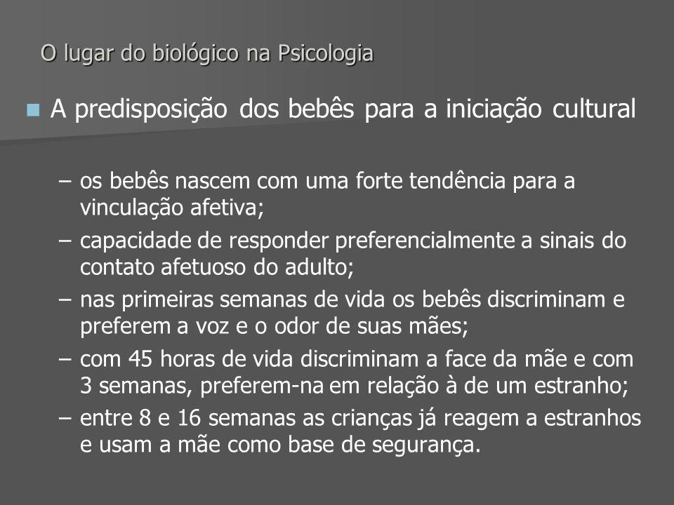 O lugar do biológico na Psicologia