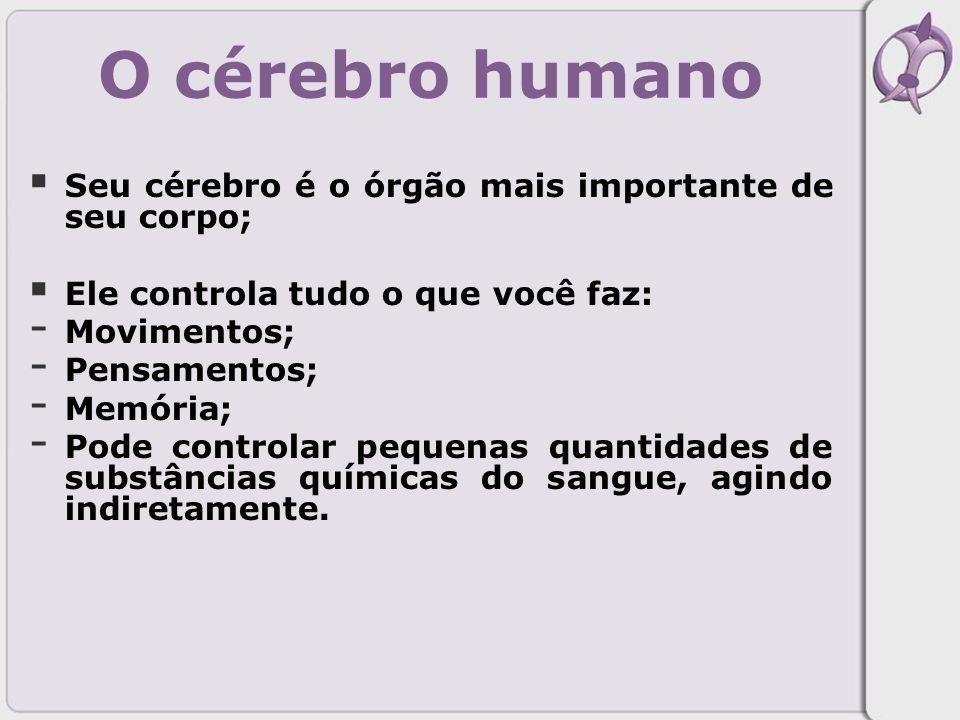 O cérebro humano Seu cérebro é o órgão mais importante de seu corpo;