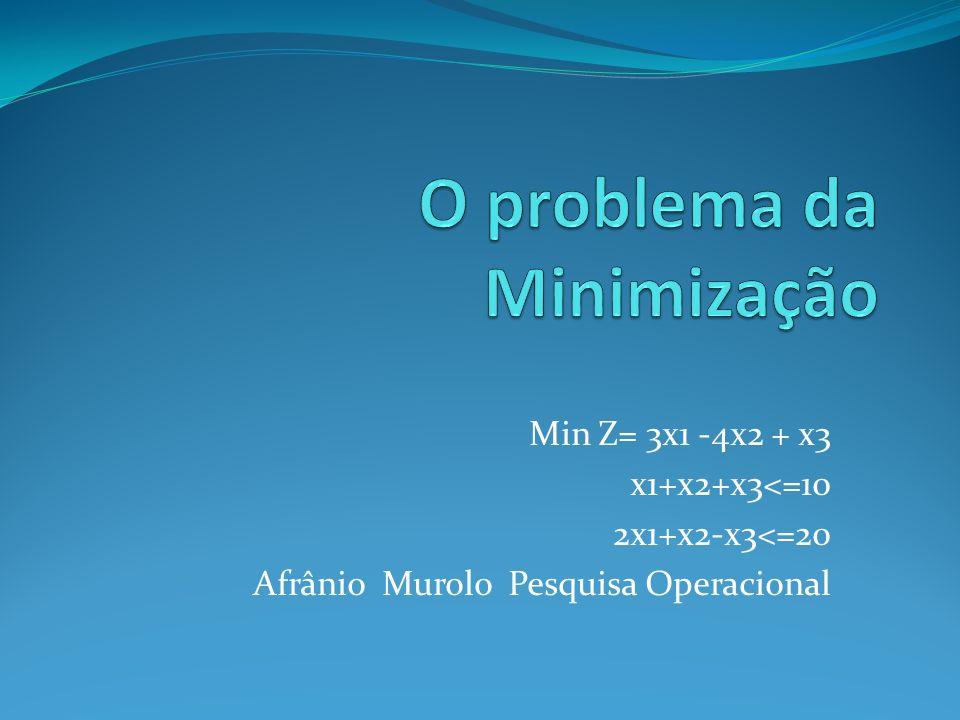 O problema da Minimização