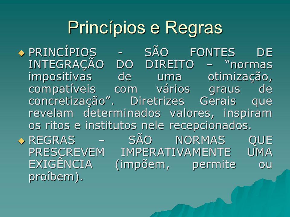 Princípios e Regras
