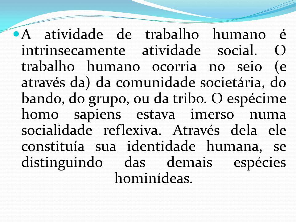 A atividade de trabalho humano é intrinsecamente atividade social