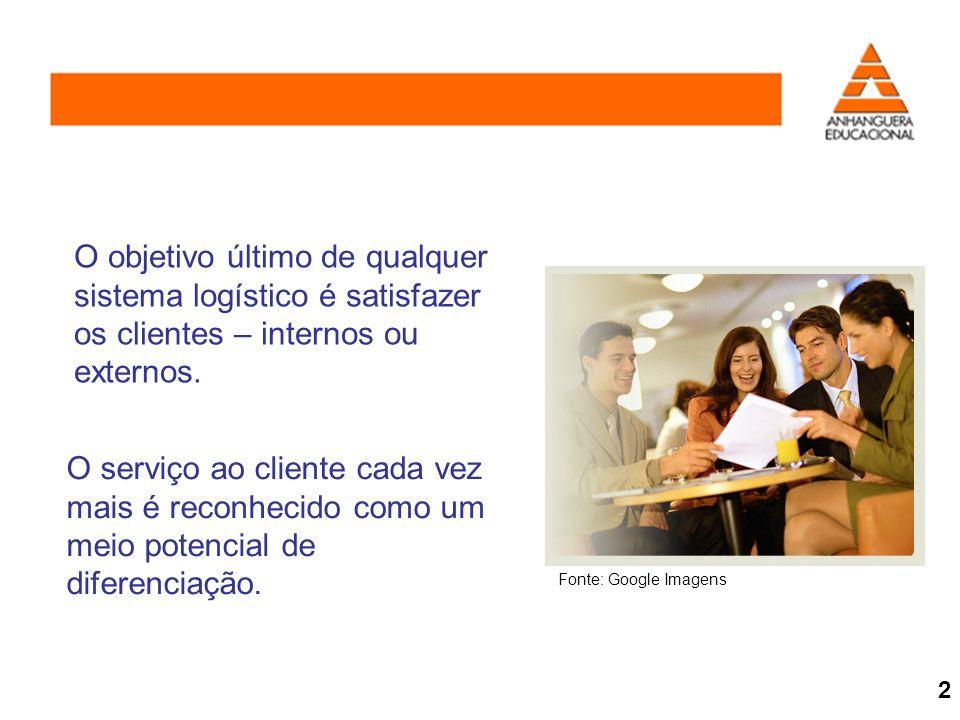 O objetivo último de qualquer sistema logístico é satisfazer os clientes – internos ou externos.