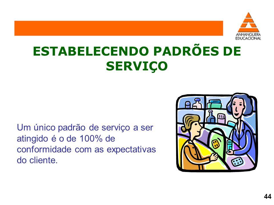 ESTABELECENDO PADRÕES DE SERVIÇO