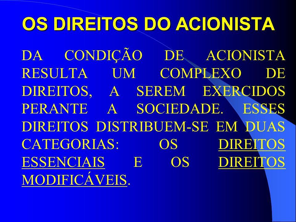 OS DIREITOS DO ACIONISTA